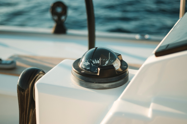 Navigational Compass on a boat in Malta