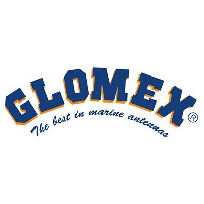 Glomex Logo 400 on white background