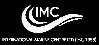 LOGO INTERNATIONAL MARINE CENTRE White text on transparent background