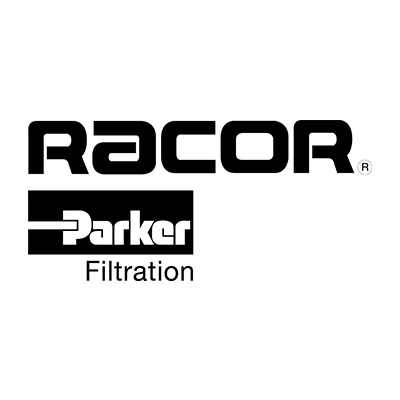 racor parker filtration logo on white background