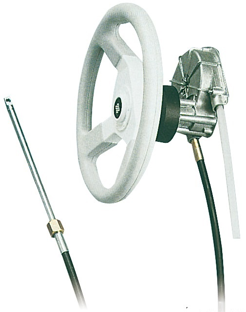 Boat Steering Cable Model T85 for Ultraflex steering system on White Background