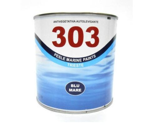 Marlin 303 Blue Antifouling Yacht Paint on white background